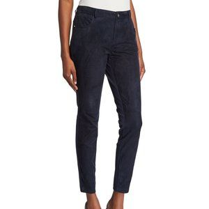 LAFAYETTE 148 Mercer Suede Leather Ponte pants
